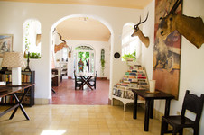 View into the dining room of the Finca Vigia.