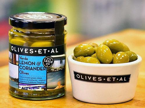 Verde Lemon & Coriander Olives – Jar 250g