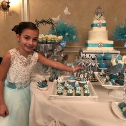 Cinderella Desert Table in Pale blue, si