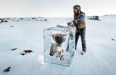 nige artificielle; decor de neige et glace; snow and ice set