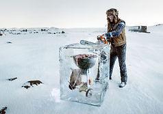 bloc de glace factice, bloc de glace en resine, resin iceblock, fake ice block, sculpture de glace, fabricant de fausse glace