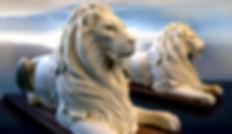 couché, lion en resine, lion sculpture, paris