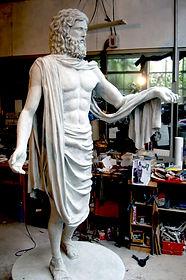 sculpture de zeus, zeus en resine, sculpture dieu grec, greec sculpture paris, sculpture paris, modelmaker paris