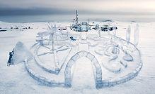 Maquette jardin de glace, Ice garden model, fabricant de fausse glace et glaçon, faux glaçon