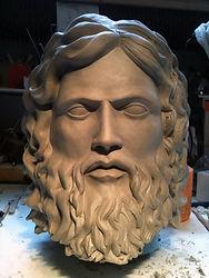 sculptue de zeus, modelage zeus, modelage sur commande, sculpture sur commande, sculpture dieu grec Paris