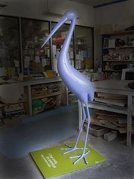 sculpture animaux geant, animal design, sculpture design, sculpture resine, design paris, heron design, animaux design