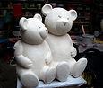 sculpture d'ourson, statue d'ourson, ourson en pierre,ourson en resine, ours, bear sculpture, modelmaker paris