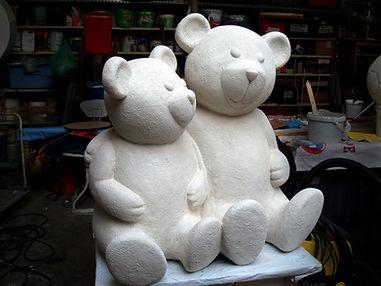 sculpture d'ourson, statue d'ourson, ourson en pierre,ourson en resine, ours, bear sculpture, teddy sculpture, modelmaker paris