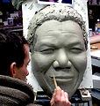 modelage Nelson Mandela, sculpture Nelson ; Nelson Mandela Clay, Mandela argil, modeleur, mouleur, modelage