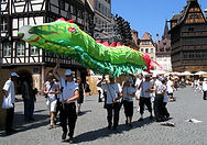 Dragon chinois sur mesure, fabrication dragon chinois, train dragon, grand dragon, Paris