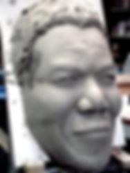 Sculpture de Nelson mandela, modelge nelson mandela, hommage a mandela, mandela sculpture, tribute to mandela, paris