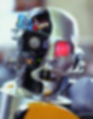 robot head; tete de robot; fabrication de robot; realisation de robot; sculpture de robot