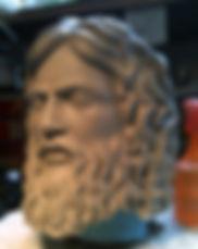 Zeus,, sculpture de zeus, modelage de zeus, sculpture de dieu grec, zeus sculpture, modelmaker, tete de zeus, zeus head, Paris