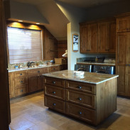 Kitchen -Floors, bacsplash and countertops