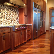 Kitchen with Wood Floors on the Diagonal