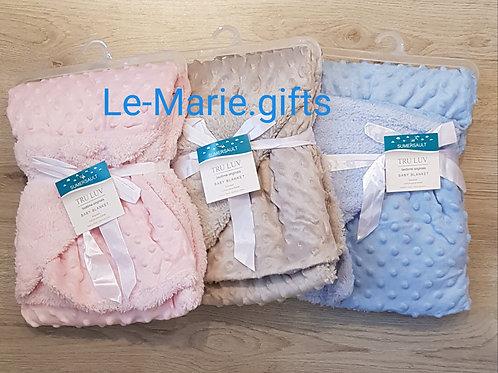 Baby deken 70 x 100 , grijs of blauw