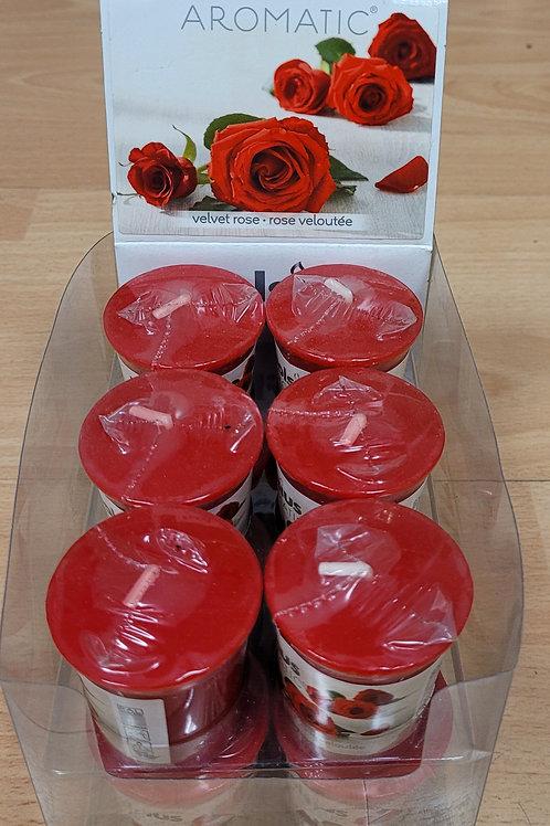 Bolsius geurkaars velvet rose