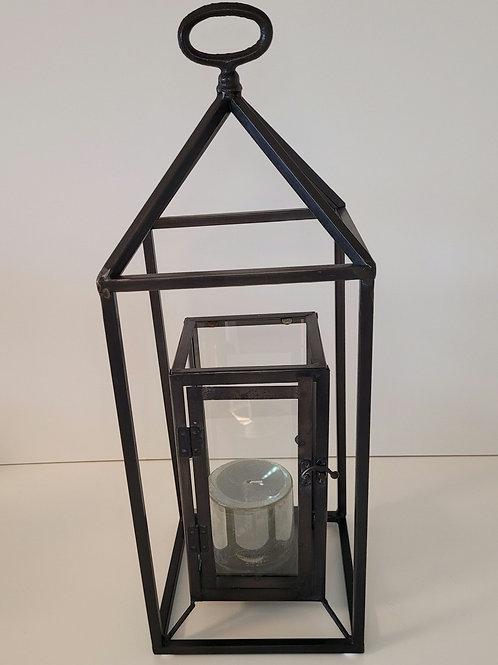 Lantaarn zwart metaal