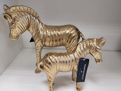 Zebra goudkleur groot