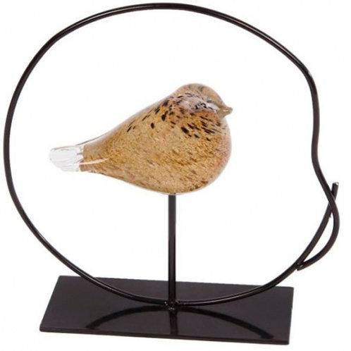 Sculptuur vogel in ring
