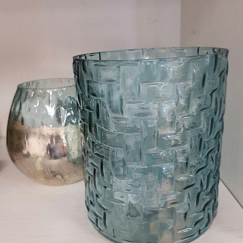 Sfeerlicht/glas/ blauw