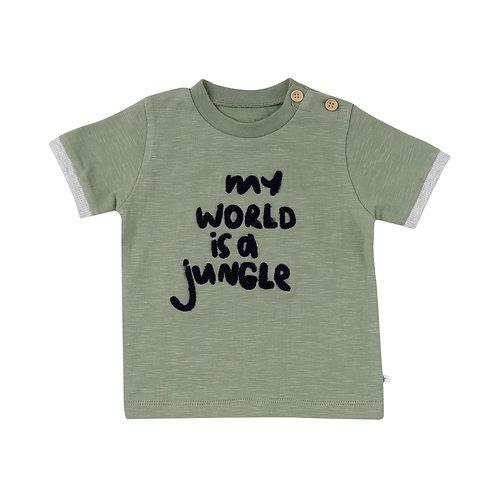 Ducky Beau shirt Green Jungle