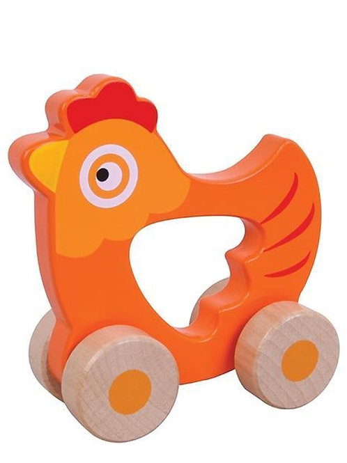 Houten roldier Kip