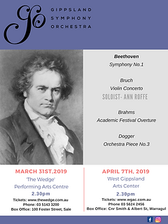 2019 GSO March 31 April 7 Concert FLyer.