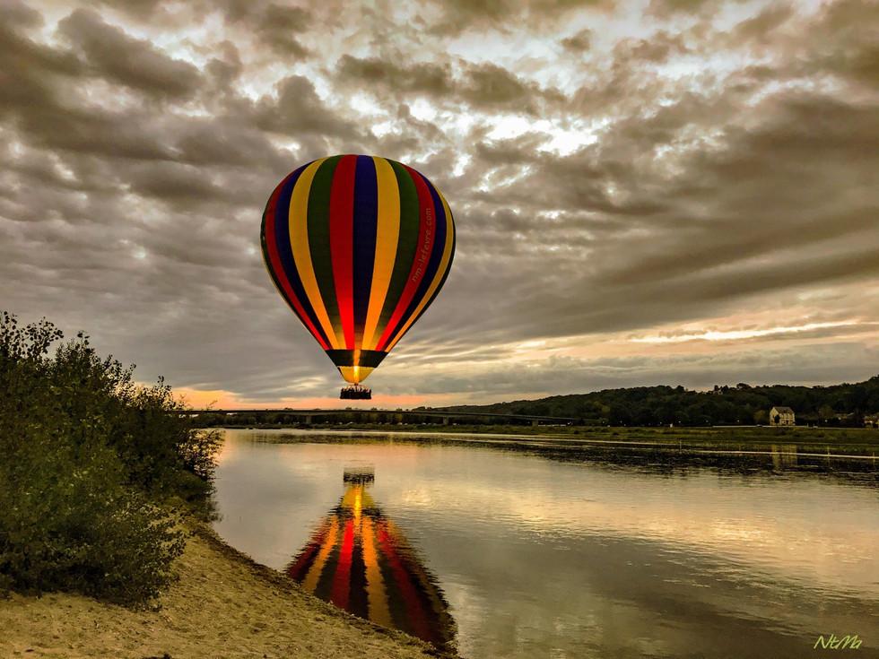 Départ de ballon dirigeable à Chaumont sur Loire
