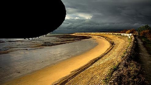 plage de l'ile de ré avant l'orage