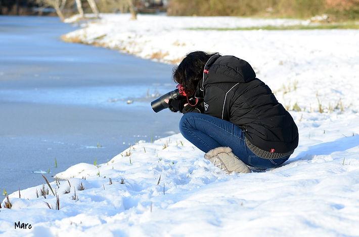 photographe dans la neige