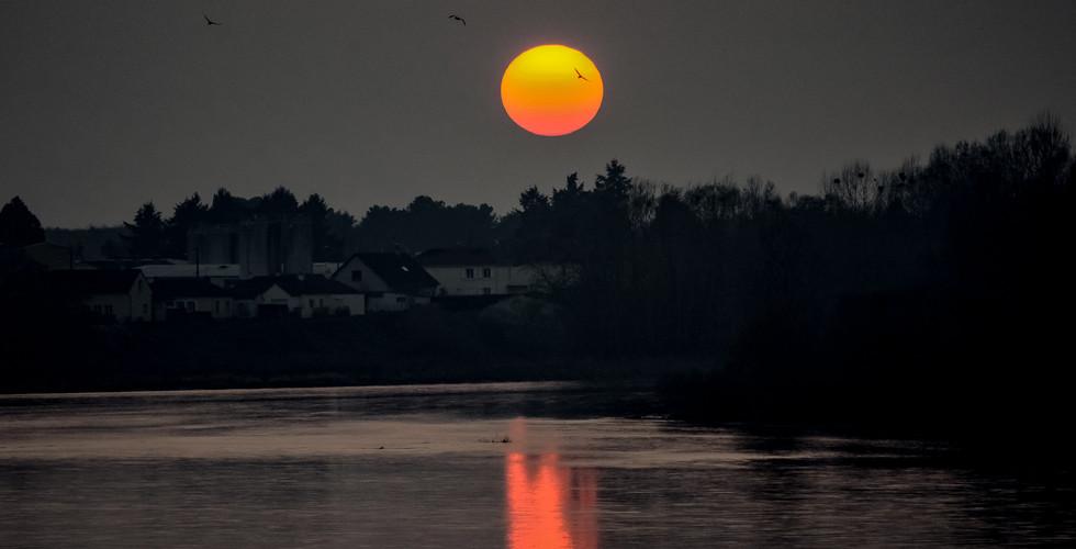 Coucher de soleil sur la Loire - Sully-sur-Loire