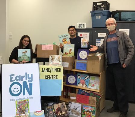 Big Book donation to Jane Finch Communit