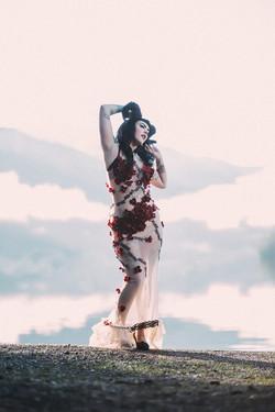 Shiverz Hydrangea gown