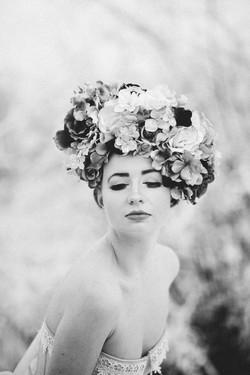 Shiverz faux floral headpiece