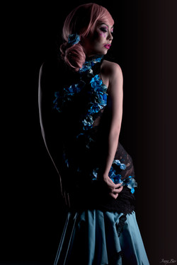 Shiverz Lace Hydrangea dress