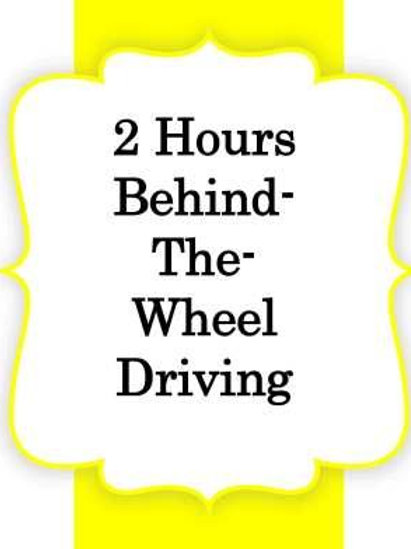 2 Hours Driving/Adult
