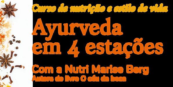 Curso de nutrição e estilo de vida Ayurveda em 4 Estações | Marise Berg Nutricionista | Área do Aluno | Acessar os materiais exclusivos do curso