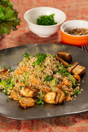 Quioa com tofu