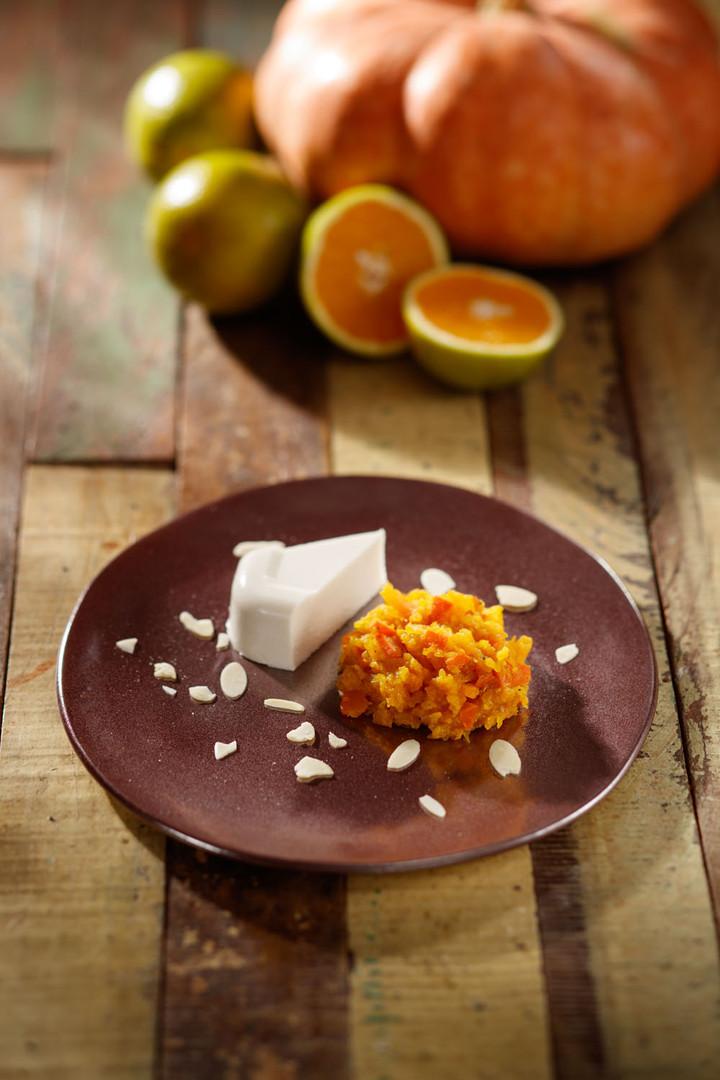 Doce de abóbora com queijo vegano