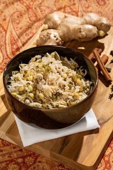 Kichari de moyashi germinado
