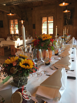 Tischdekoration Hochzeit Atzmännig