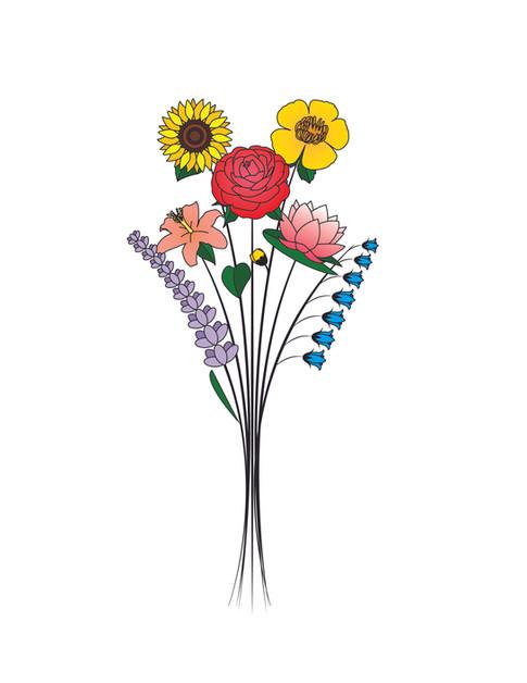 Flower Illustration/Tattoo Design