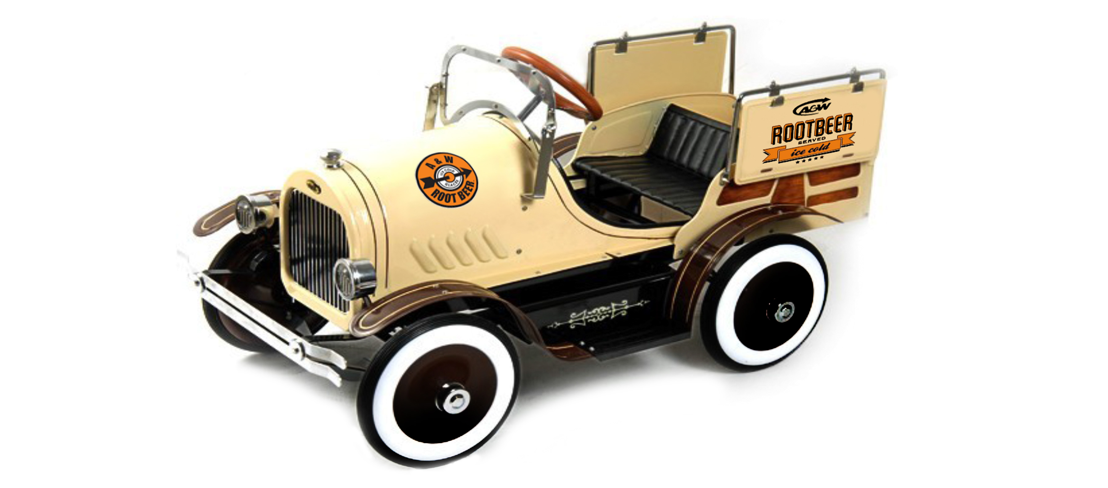 rootbeer pedal car