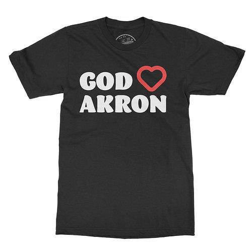 God Loves Akron Tee