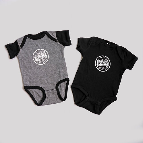BOSS BABY ONESIE 2 PACK (Heather & Black)