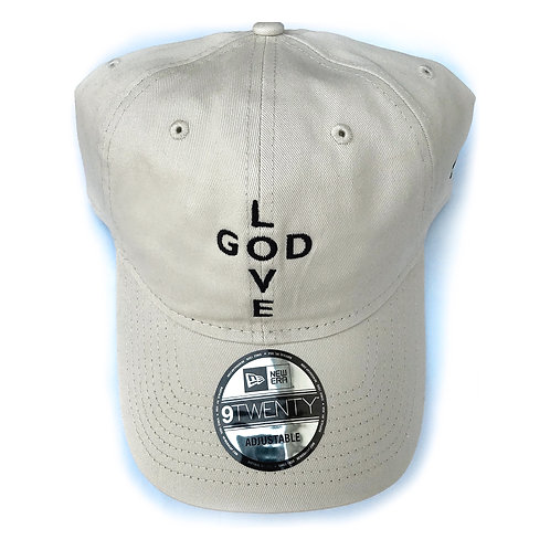 LOVE GOD 7th Floor x New Era dad hat (Stone)