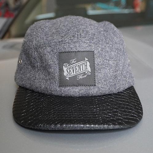 """Wool """"Platinum Smoke"""" 5 panel hat w/ gator brim"""