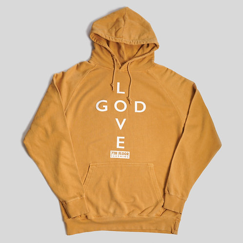 LOVE GOD HOODIE (GLORY GOLD)