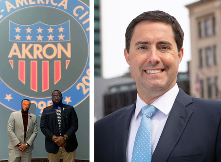 OHIO SECRETARY OF STATE FRANK LAROSE VISITING 7TH FLOOR CLOTHING IN AKRON TODAY & ALL ARE INVITED